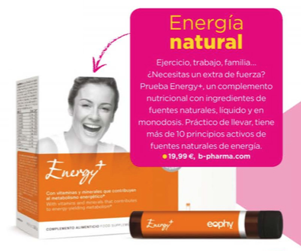 Eophy Energy+ en revista Women's Fitness noviembre 2014